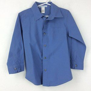 Blue Janie and Jack button-up 4T